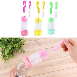 Teekanne Düse Tüllenrohres Nylon Reinigung Baby-Milchflasche Saugerbürste ^