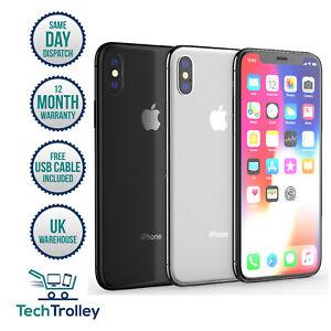 Apple-iPhone-X-iPhone-10-64gb-amp-256gb-Entsperrt-SIM-Frei-12-Monate-Gewaehrleistung