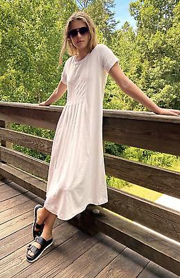 Free People FP Beach On Repeat White Maxi Tee T- Shirt Dress Size XS   eBay