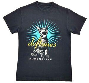 Deftones-Screaming-Cat-Adrenaline-Tee-Black-Size-Small-Adult-T-Shirt-Concert