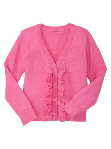 Baby Gap Girl Ruffle Cardigan Knockout Pink New With Tags