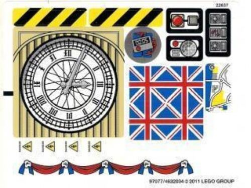 CARS 2 LEGO 8639 Big Bentley Bust Out STICKER SHEET