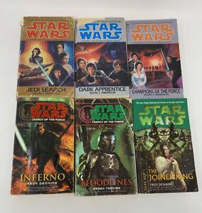 STAR-WARS-Books-Jedi-Academy-Legacy-of-the-Force-Dark-Nest-Lot-Of-8-Paperbacks