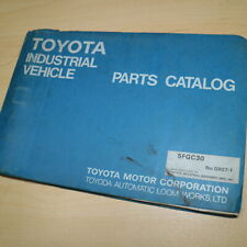 Toyota 5fgc30 Forklift Parts Manual Book Catalog Spare List Lift Truck G807 1