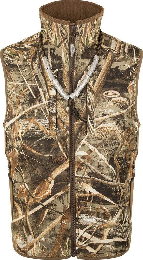DRAKE Camo Windproof Tech Vest Men's (M)  DW1602-015-2 Realtree Max-5