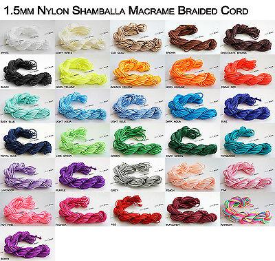 1mm 1.5mm Chinese Knot Nylon Shamballa Macrame Cord Beading String - Pick Color