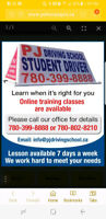 PJ DRIVING SCHOOL  (Complete Basic Package) $575 plus gst Edmonton Edmonton Area Preview
