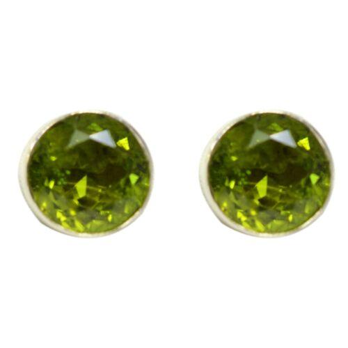 925 Sterling Silver Peridot Gemstone Earrings 3.93 gms Jewelry CCI