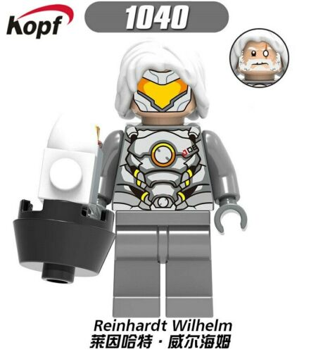 Fortnite Overwatch LEGO Comme neuf on Card Minifigures Reinhardt Traceur McCree Reaper Mercy