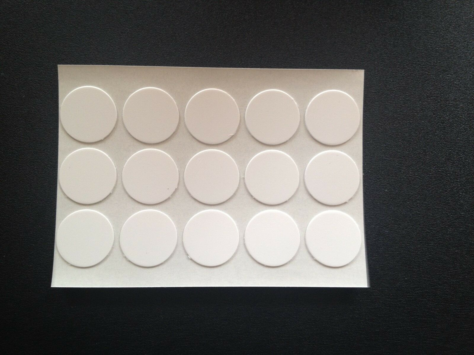 Self Adhesive Stick On Screw Hole Cap Covers 20mm White