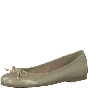 TAMARIS @ Damen Ballerina @ Dirndl Schuhe @ Tracht @ gold - beige Lack 37 - 41