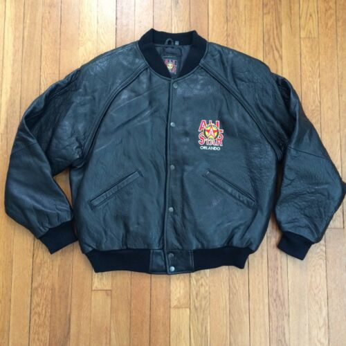 Official ALL STAR CAFE Black Leather Jacket Size L