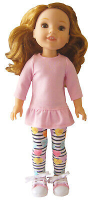 """Heather Gray Leggings For 14.5/"""" WELLIE WISHERS Doll Clothes American Girl"""