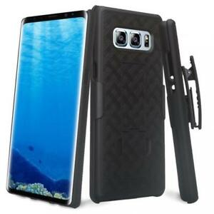 For-SAMSUNG-GALAXY-NOTE8-COMBO-SHELL-CASE-KICK-STAND-SWIVEL-BELT-CLIP-HOLSTER