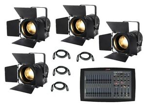 Details About 4 X Elumen8 Led Fresnel Mp60 Warm White Theatre Stage School Lighting Package
