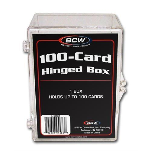 100 Count CT Box 1-HB100 Case 100 BCW HINGED BOXES