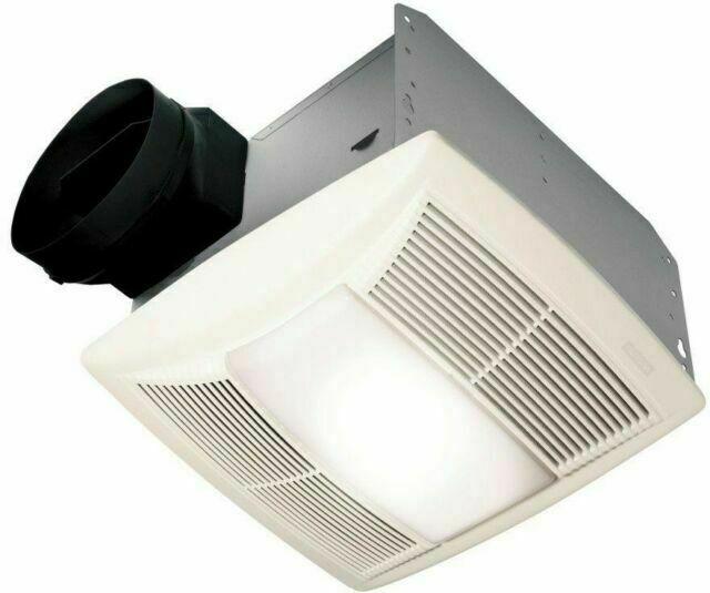 Nutone Qtn130le1 Quiet 130 Cfm Ceiling, Nutone Bathroom Exhaust Fan
