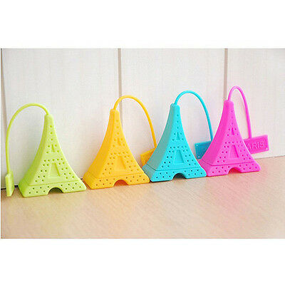 Pyramid Silicone Tea Bag Eiffel Tower Loose Infuser Strainer Herbal Spice Filter