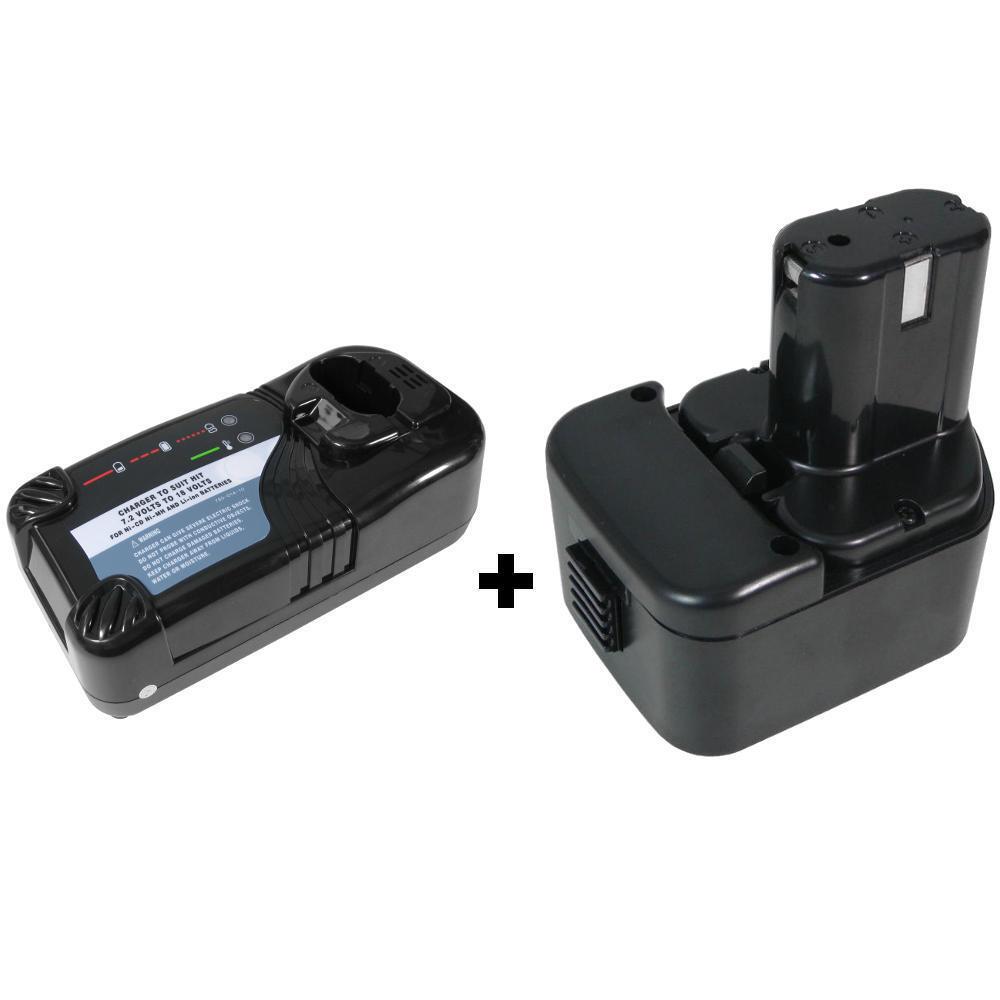 Set-Angebot: Set-Angebot: Set-Angebot: Ladegerät+AKKU 12V Ni-MH 3000mAh für Hitachi B1212S EB1214L EB1214S d35682