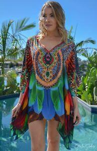 Silk-Blend-Kaftan-Top-with-Embellishment