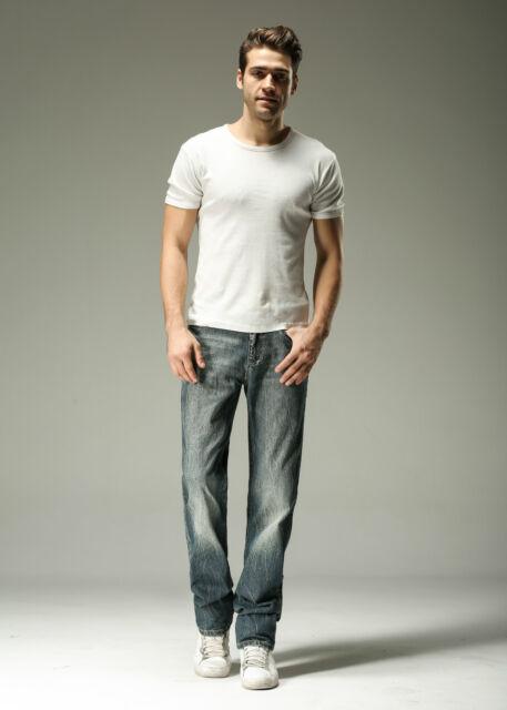 FOX JEANS Men's Gerald Classic Comfort-Fit Straight Blue Denim Jeans SIZE 44