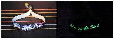 Dein Wunschtext Festivalbändchen mit cooler Leuchtschrift Wristler Original NEU