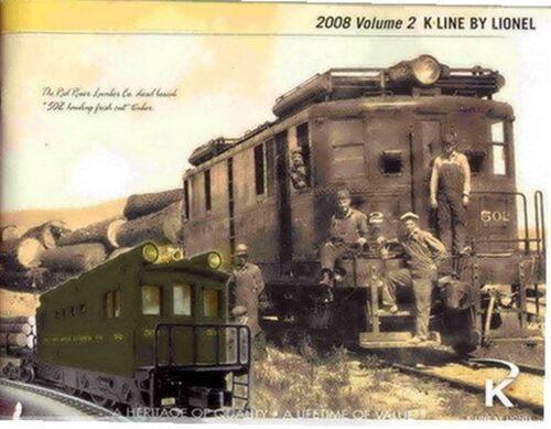 2008 LIONEL K LINE TRAINS VOLUME 2 CONSUMER CATALOG MINT