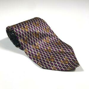 90s-Vintage-GIANNI-VERSACE-Mens-Tie-100-Silk-Made-in-Italy-Baroque-Medusa