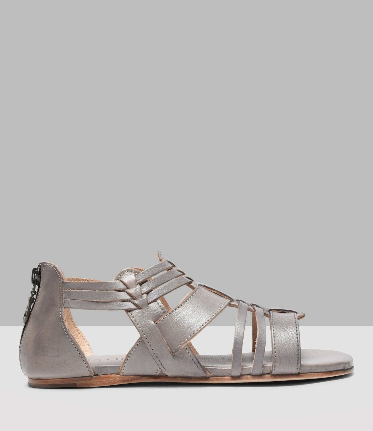 NEW handcrafted BedStu Cara leather sandal Light grey rustic handcrafted NEW size 6 Bed Stu fdd172