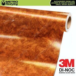 3m Di Noc Bubinga Gloss Wood Grain Vinyl Wrap Sheet Film