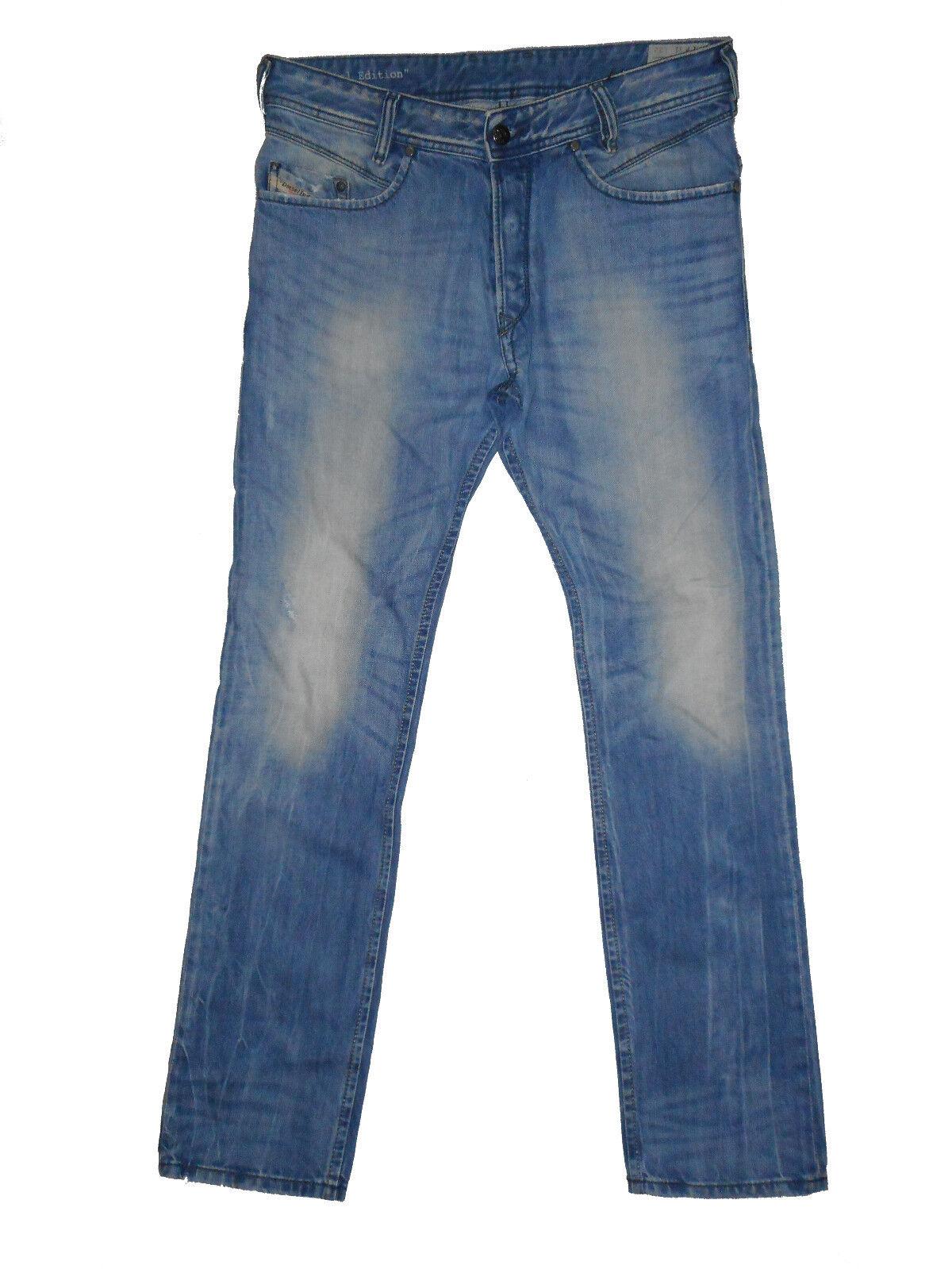 Special Edition Diesel POIAK 0816P Slim Tapered W31 L32 Mens bluee Denim Jeans