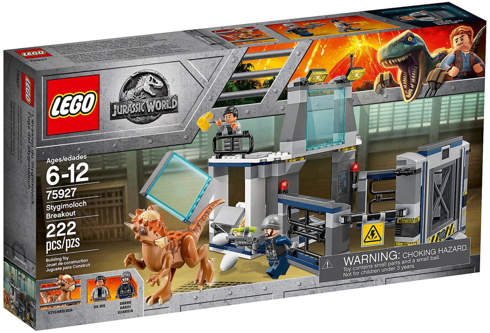 Lego Jurassic World 75927 L'evasione dello Stygimoloch Nuovo Dr. Wu