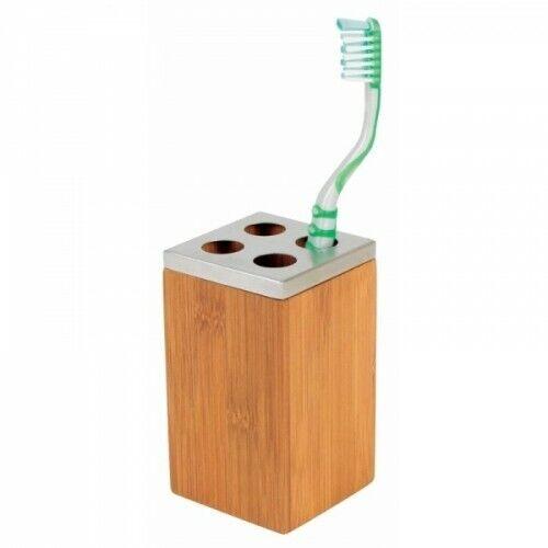 Zahnbürstenhalter Bambus Zahnbürste Bürstenhalter Zahnputzbecher Zahnpflege neu