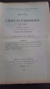 Rivista SCUOLA Antropologia 13 Eme Anni 1903 F.Alcan N°2 ABE