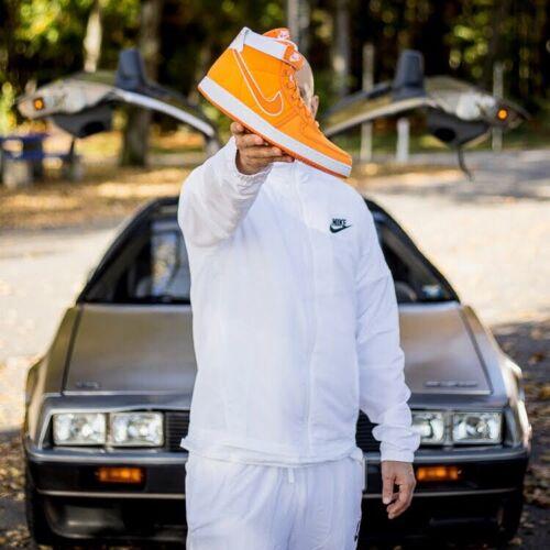 Nike Men's Vandal High Supreme Canvas QS Orange White Sz. 9 Uk 44 Eu AH8605-800
