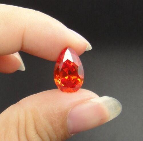 Padparadscha Sapphire 8.77ct 10x14mm Pear Cut Shape AAAAA VVS Loose Gemstone