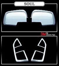 For Kia Soul 2009 - 2013 Chrome Wing Mirror & Tail light Trim Set