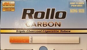 """1000 NEW """"CARBON"""" TRIPLE FILTER EMPTY ROLLO TUBES Cigarette Tobacco Rolling roll"""