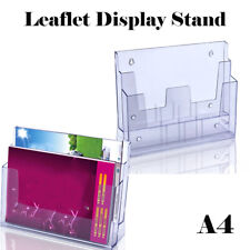 A4 Pamphlet Acrylic Plastic Display Brochure Holder Stand Business Multi Pocket