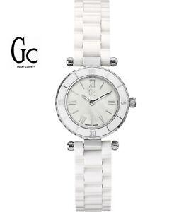 GUESS-Gc-X70007L1S-Mini-Chic-Damenuhr-Keramikband-weiss-Schweizer-Uhrwerk