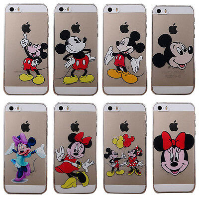 New Cute cartoon pattern Clear phone Back Cover Case for iphone 5 5S 5C 6