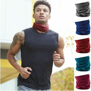 Head Scarf Hair Band Bandana Neck Snood Hat Motorbike Men Women Marl ... 1b57a6a894f