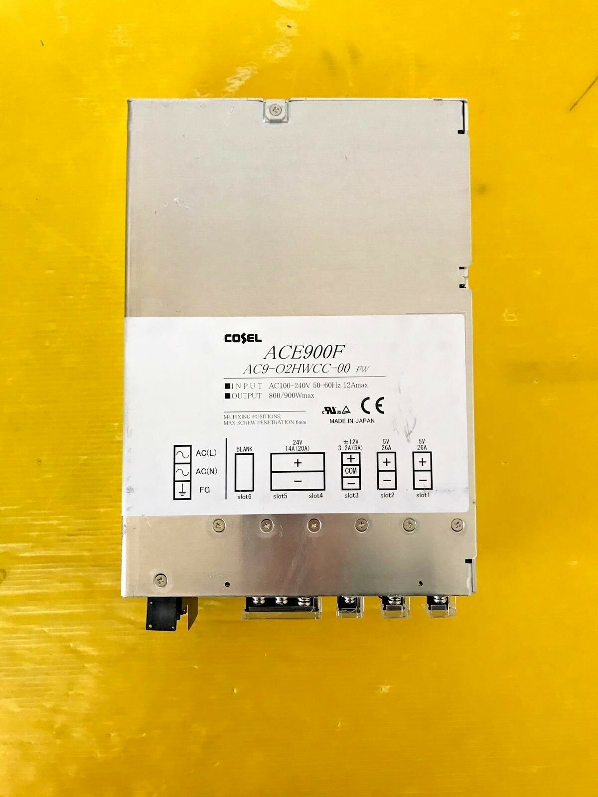 COSEL ACE900F AC9-02HWXX-00 FW Power Supply