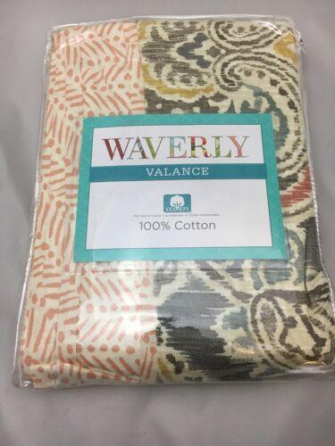 """Waverly 1 Valance Artisanal Ikat Tate 100/% Cotton 60"""" X 16"""""""