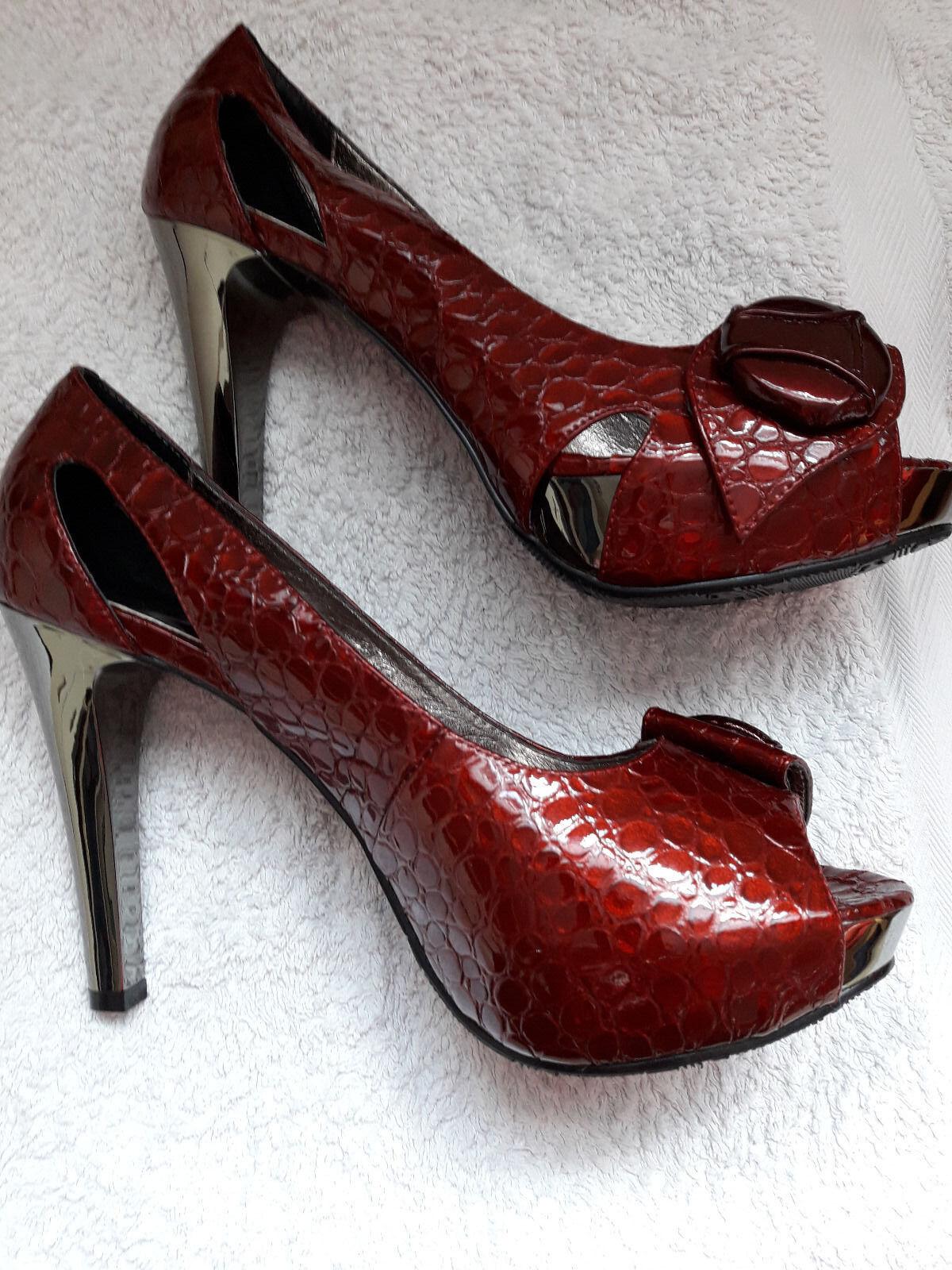Rosa Rot Damen Schuhe / High Heels / 38 Plateau / Pumps Gr. 38 / 3ca834