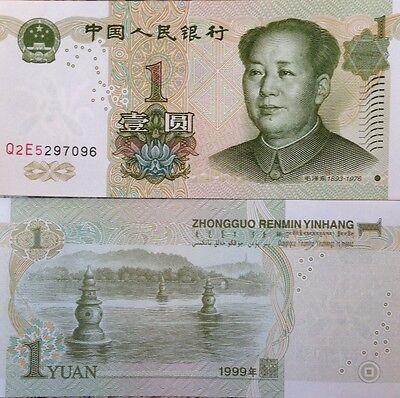 CHINA 1999 1 YUAN UNCIRCULATED BANKNOTE P-895 MAO TSE TUNG FROM A USA SELLER !!!