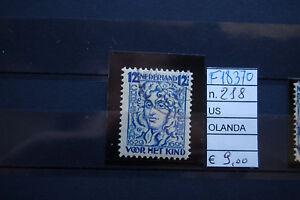 f18370 Quality And Quantity Assured Audacious Francobolli Olanda Usati N°218