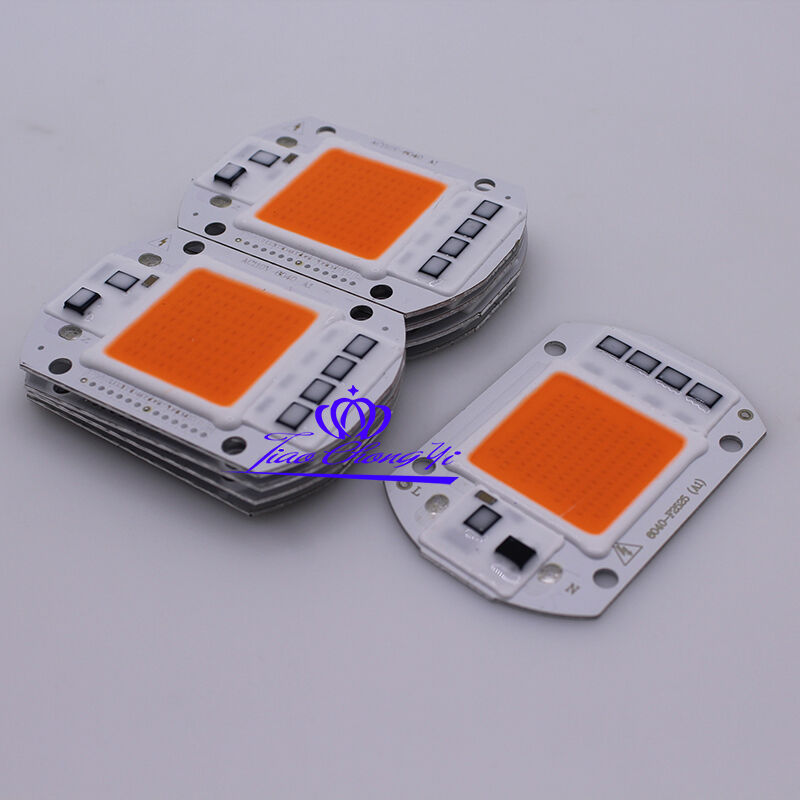 50w Full Spectrum Led Cob Chip Dc12v 32v Integrated Smart Ic Driver 220v 110v Ebay