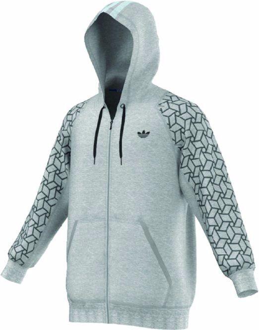 Adidas Medium Grey Sp Hoodie Lx Geo Fz Hd Hoodie Sp fcb60e