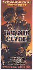 BONNIE & CLYDE Broadway Musical ad flyer Jeremy Jordan (SUPERGIRL) Laura Osnes